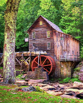 Royalty-Free and Rights-Managed Images - Glade Creek Idyllic Mill - West Virginia by Gregory Ballos