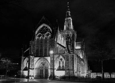 Grace Kelly - Glasgow Cathedral At Night by David Gallie