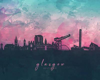 1920s Flapper Girl - Glasgow Skyline Panorama by Bekim M
