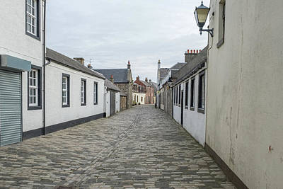 Popular Rustic Neutral Tones - Glasgow Vennel Irvine an Area Where Robert Burns Lived and Worke by Jim McDowall