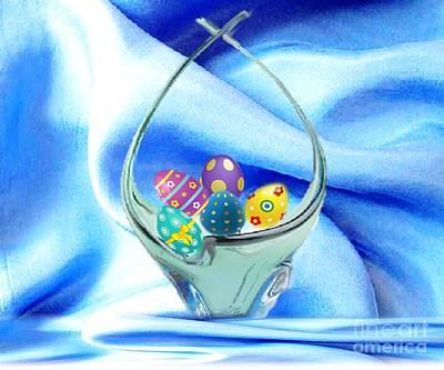 Keith Richards - Glass Easter Egg Basket by Belinda Threeths