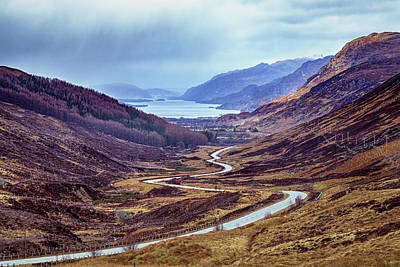 Popstar And Musician Paintings Royalty Free Images - Glen Docherty to Loch Maree Royalty-Free Image by John Frid