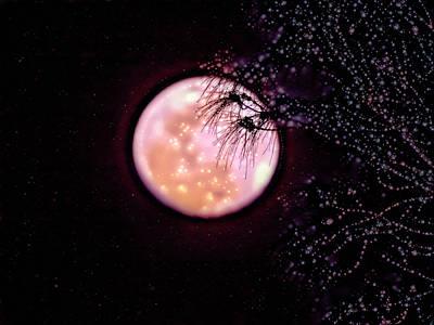 Digital Art - Glitter Moon by Robert Stanhope