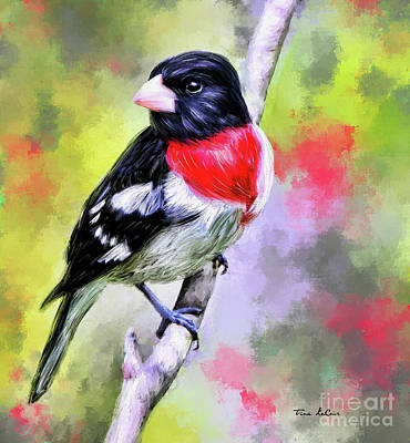 Farmhouse Rights Managed Images - Glorious Grosbeak Royalty-Free Image by Tina LeCour