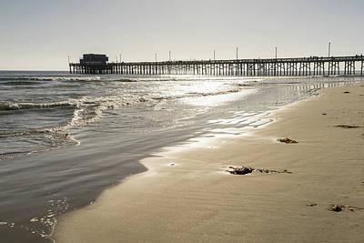 Pittsburgh According To Ron Magnes - Glossy Gold Beach Vibe - Sunshiny Newport Beach Pier in Orange County California by Georgia Mizuleva