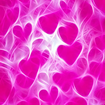 Royalty-Free and Rights-Managed Images - Glowing Hearts by David G Paul
