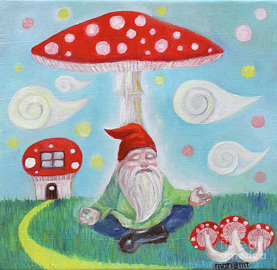 Painting - Gnome And Mushroom by Manami Lingerfelt