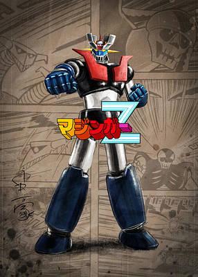 Digital Art - GNT 02 Mazinger Z by Andrea Gatti
