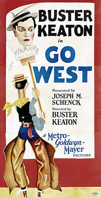 Royalty-Free and Rights-Managed Images - Go West 2, with Buster Keaton, 1925 by Stars on Art