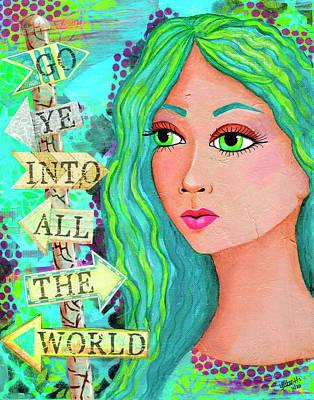Mixed Media - Go Ye, Mary Magdalene by Yobeth Puckett