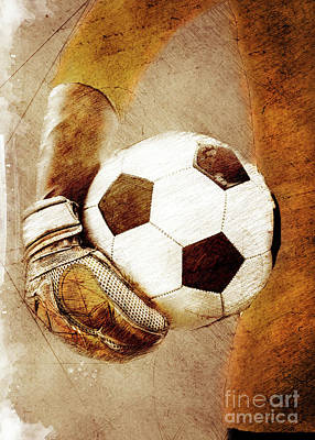 Sean - Goalkeeper Football player sport art #football #soccer by Justyna Jaszke JBJart