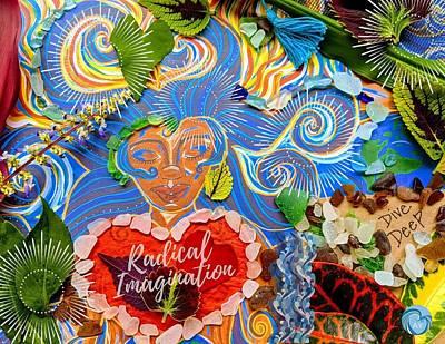 Painting - Goddess of Radical Imagination by Angela Yarber