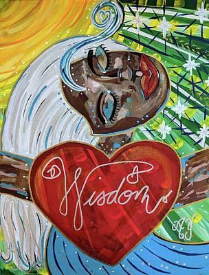 Painting - Goddess of Wisdom by Angela Yarber
