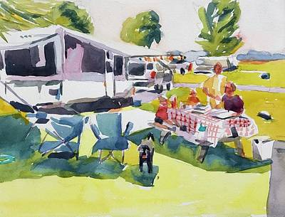 Painting - Going Camping  by Jo Mackenzie