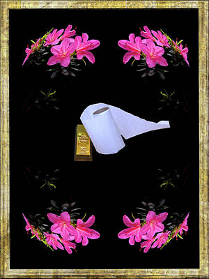 Surrealism Royalty-Free and Rights-Managed Images - Gold Equals Toilet Paper by Constance Lowery
