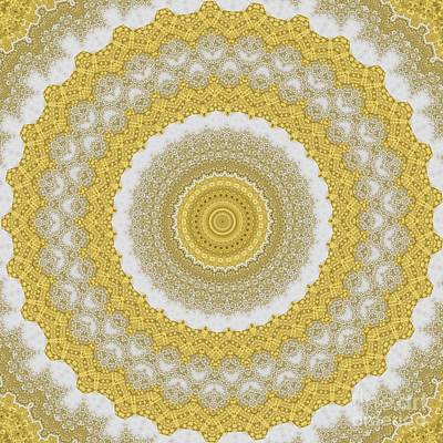 Vintage Performace Cars - Gold Marble Mandala by Sheila Wenzel