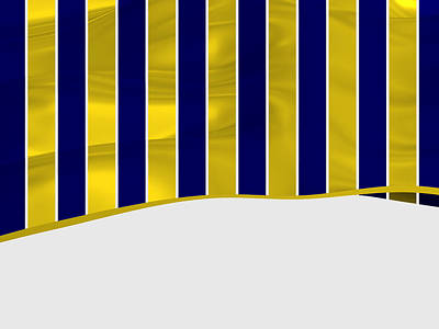 Sports Royalty-Free and Rights-Managed Images - Golden and blue stripes with waves by Alberto RuiZ