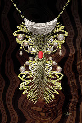 Truck Art Rights Managed Images - Golden Bejewelled Necklace Royalty-Free Image by Hakon Soreide
