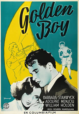 Royalty-Free and Rights-Managed Images - Golden Boy, with Barbara Stanwyck and William Holden, 1939 by Stars on Art