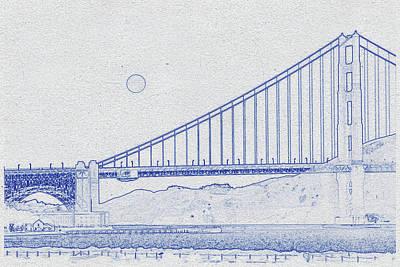 Travel -  Golden Gate Bridge 3 by Celestial Images