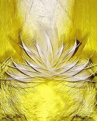 Pop Art - Golden Lotus Spirit by Rachel Hannah