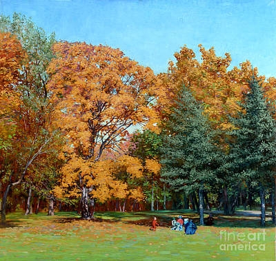 Painting - Golden maple by Simon Kozhin