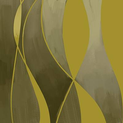 Royalty-Free and Rights-Managed Images - Golden Mirage - Contemporary Abstract Painting - Minimal, Modern - Yellow, Golden, Brown, Tan by Studio Grafiikka