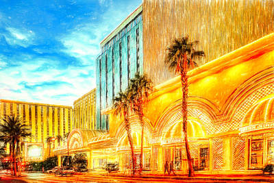 Popstar And Musician Paintings Royalty Free Images - Golden Nugget Hotel Las Vegas Royalty-Free Image by Tatiana Travelways