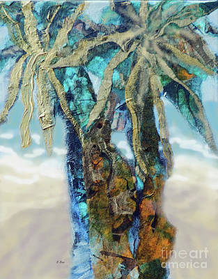 Movies Star Paintings - Golden Palms III 300 by Sharon Williams Eng