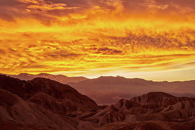 Royalty-Free and Rights-Managed Images - Golden Skies of Zabriskie by Jon Glaser