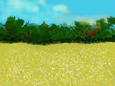 David Bowie - Golden Soybeans Fields  in September by Eileen Backman