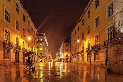 Patriotic Signs - Golden Street by Evgeni Dinev