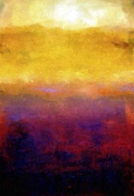 Abstract Royalty-Free and Rights-Managed Images - Golden Sunset by Michelle Calkins