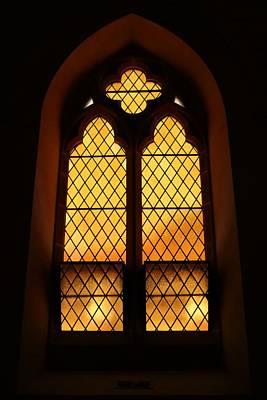 Valentines Day - Golden Window by Michaela Perryman