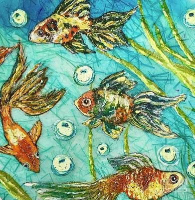 Painting - Goldfish Four by Jannett Prusik