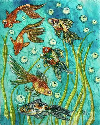 Painting - Goldfish Parade by Jannett Prusik