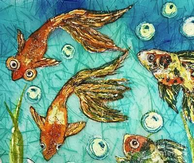 Painting - Goldfish Three by Jannett Prusik
