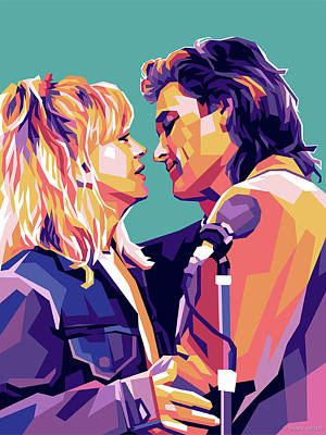 Royalty-Free and Rights-Managed Images - Goldie Hawn and Kurt Russell by Stars on Art