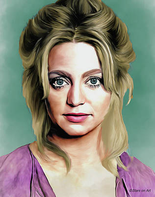 Royalty-Free and Rights-Managed Images - Goldie Hawn illustration by Stars on Art