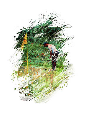 Sports Royalty-Free and Rights-Managed Images - Golf by All Sport Art