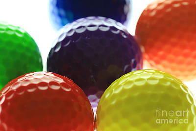 Target Threshold Watercolor - Golf ball rainbow  by Douglas Sacha
