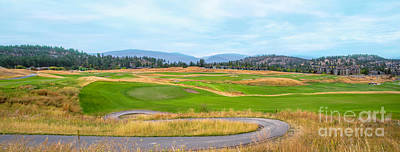 Sports Royalty-Free and Rights-Managed Images - Golf course in Predator Ridge Resort.Panorama by Viktor Birkus