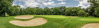 Sports Royalty-Free and Rights-Managed Images - Golf Course Panorama by Elvira Peretsman