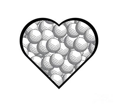Mannequin Dresses - Golf Heart Love Design by College Mascot Designs