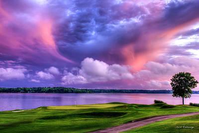 Angels And Cherubs - Golf The Landing Reynolds Plantation Golf Landscape Art by Reid Callaway