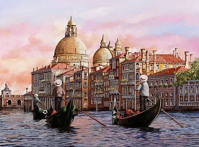 Royalty-Free and Rights-Managed Images - Gondolando A Venezia by Guido Borelli