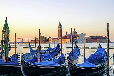 Photograph - Gondolas, San Giorgio Maggiore by Scott Thomas Images