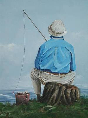 Sports Paintings - Gone Fishing by Teresa Trotter