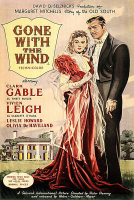 Royalty-Free and Rights-Managed Images - Gone With the Wind, with Clark Gable and Vivien Leigh, 1939-2 by Stars on Art
