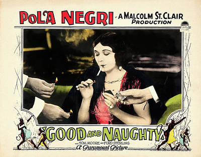 Pasta Al Dente Royalty Free Images - Good and Naughty movie poster, with Pola Negri, 1926 Royalty-Free Image by Stars on Art
